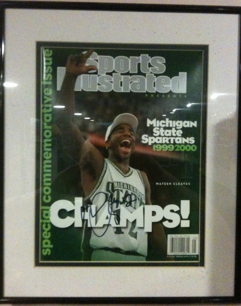 Mateen Cleaves Auto'd SI Cover